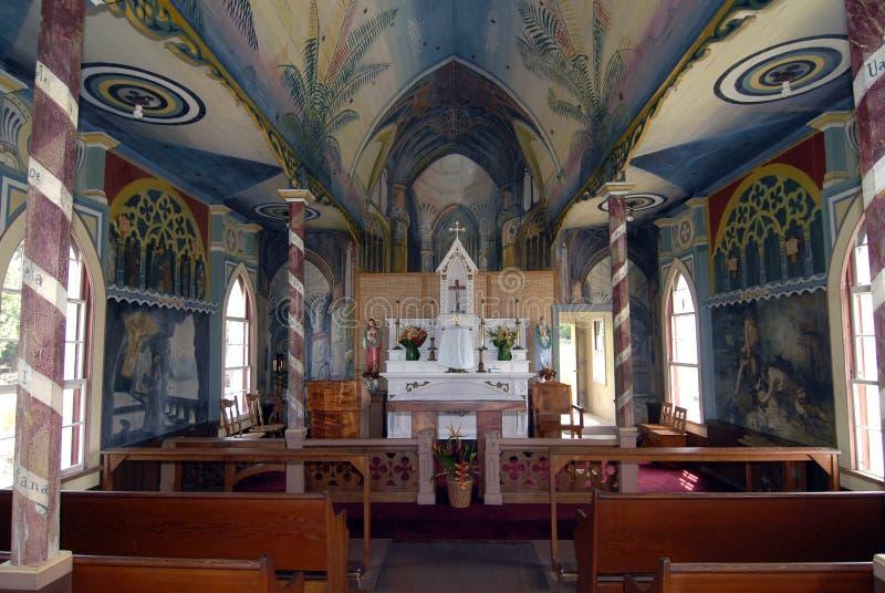 Geschilderde Kerk Hawaï stock foto