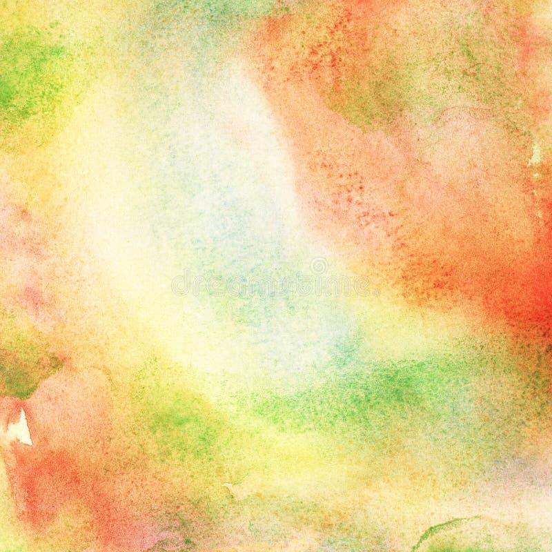 Geschilderde kleurrijke waterverfachtergrond. stock illustratie