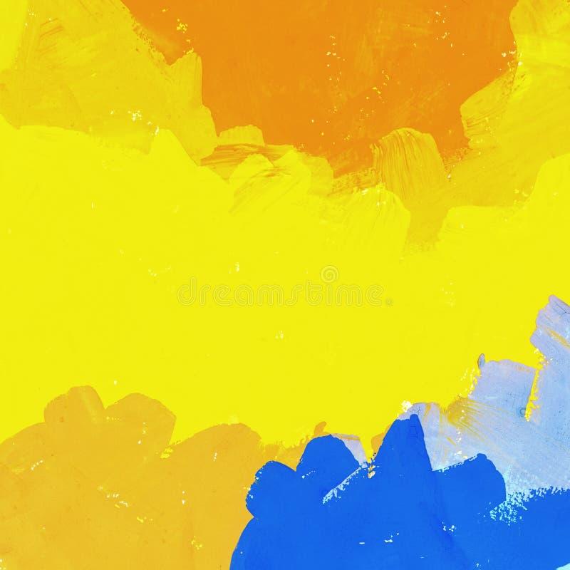 Geschilderde kleurrijke waterverfachtergrond stock illustratie