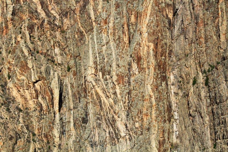 Geschilderde Muur Zwarte Canion van Gunnison bij Preekstoelrots royalty-vrije stock afbeeldingen