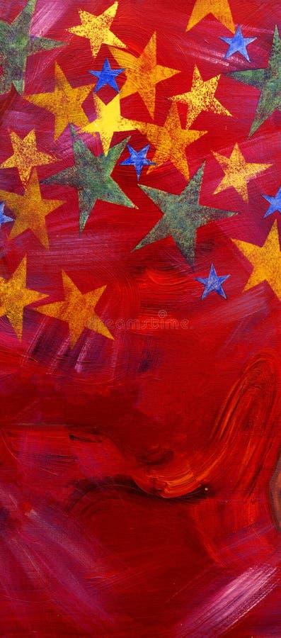 Geschilderde sterren stock afbeelding