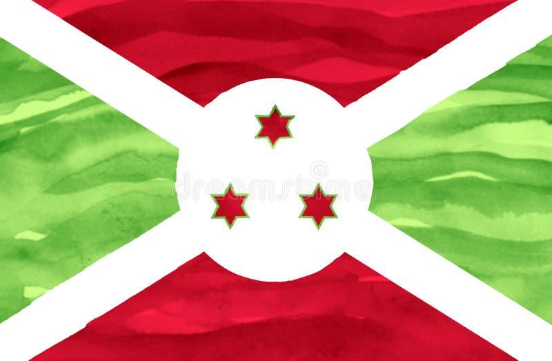 Geschilderde vlag van Burundi royalty-vrije stock afbeelding