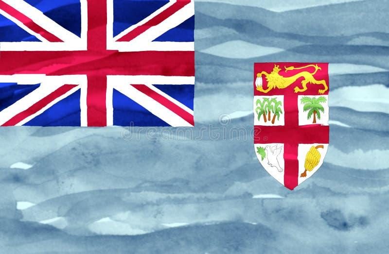 Geschilderde vlag van Fiji royalty-vrije stock afbeeldingen