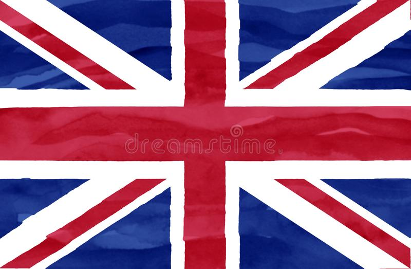 Geschilderde vlag van het Verenigd Koninkrijk stock fotografie