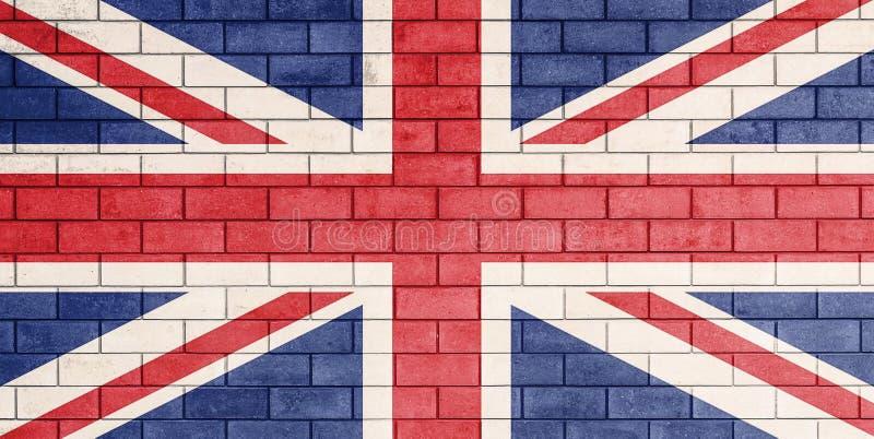 Geschilderde vlag van het Verenigd Koninkrijk stock foto's