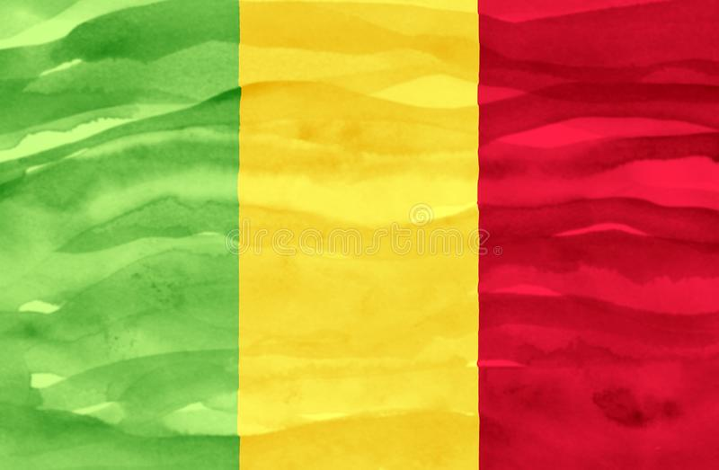 Geschilderde vlag van Mali royalty-vrije stock fotografie