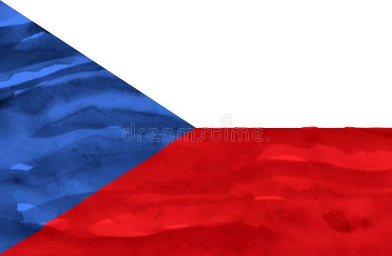 Geschilderde vlag van Tsjechische Republiek royalty-vrije stock foto's