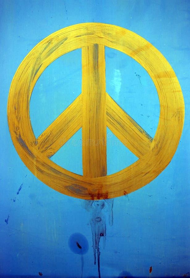 Geschilderde vrede stock foto