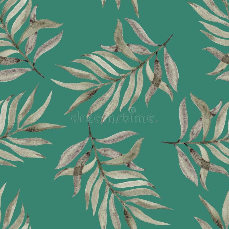 Geschilderde Watercolourhand Mooi ontwerp voor behang, textiel, stoffen, verpakkend document, achtergrond Naadloos patroon stock illustratie