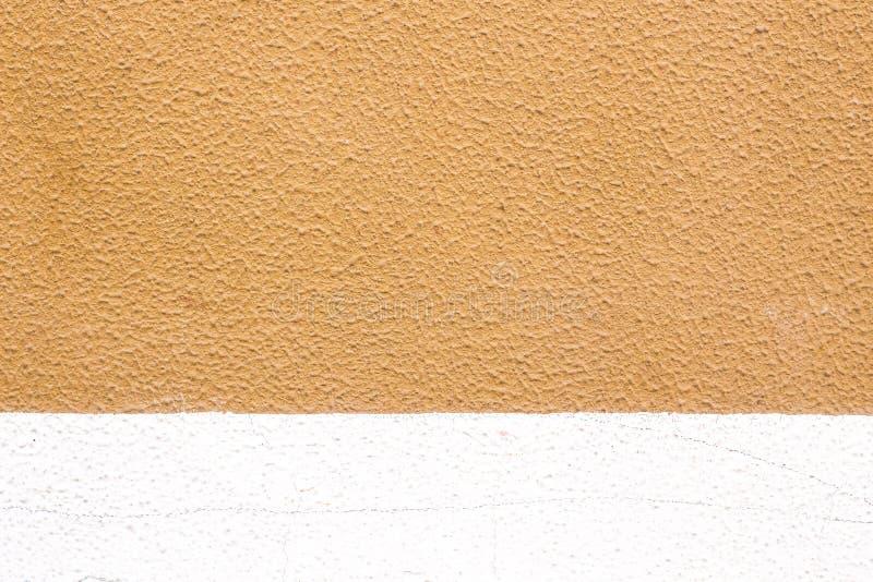 Geschilderde Witte en Beige Muurachtergrond royalty-vrije stock afbeeldingen