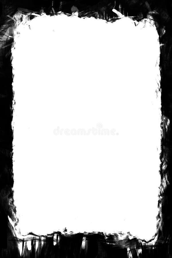 Geschilderde Zwarte Fotoranden voor Portretfoto's 5x7 royalty-vrije illustratie