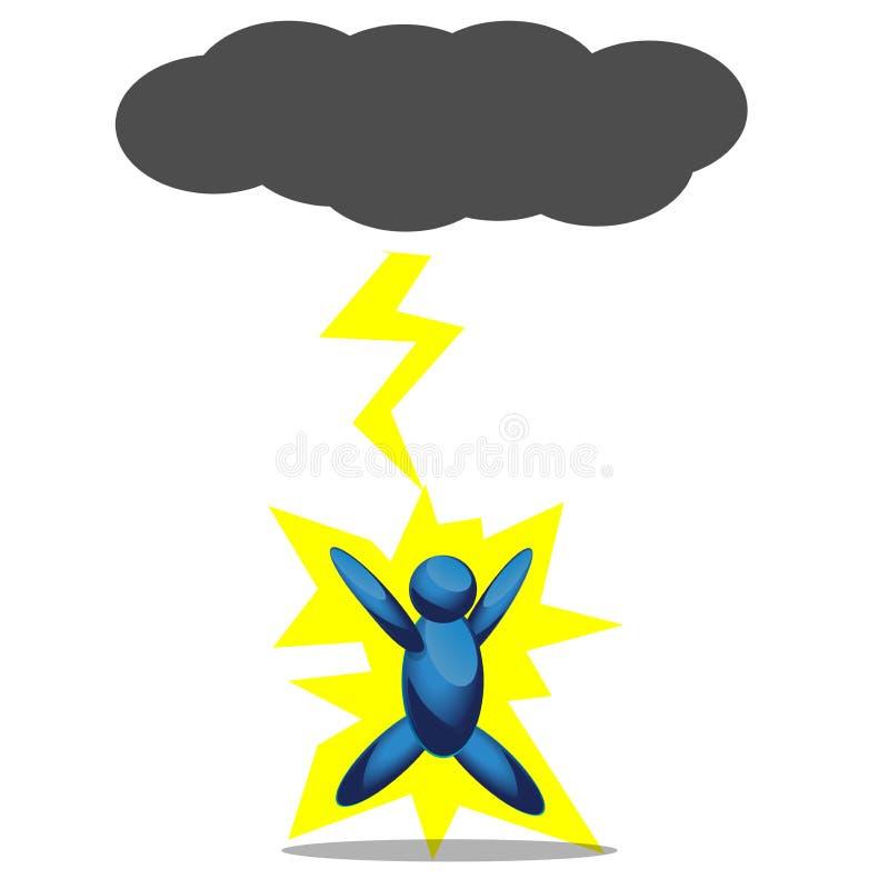 Geschlagen durch Blitz Â-Illustration im Vektorformat stock abbildung