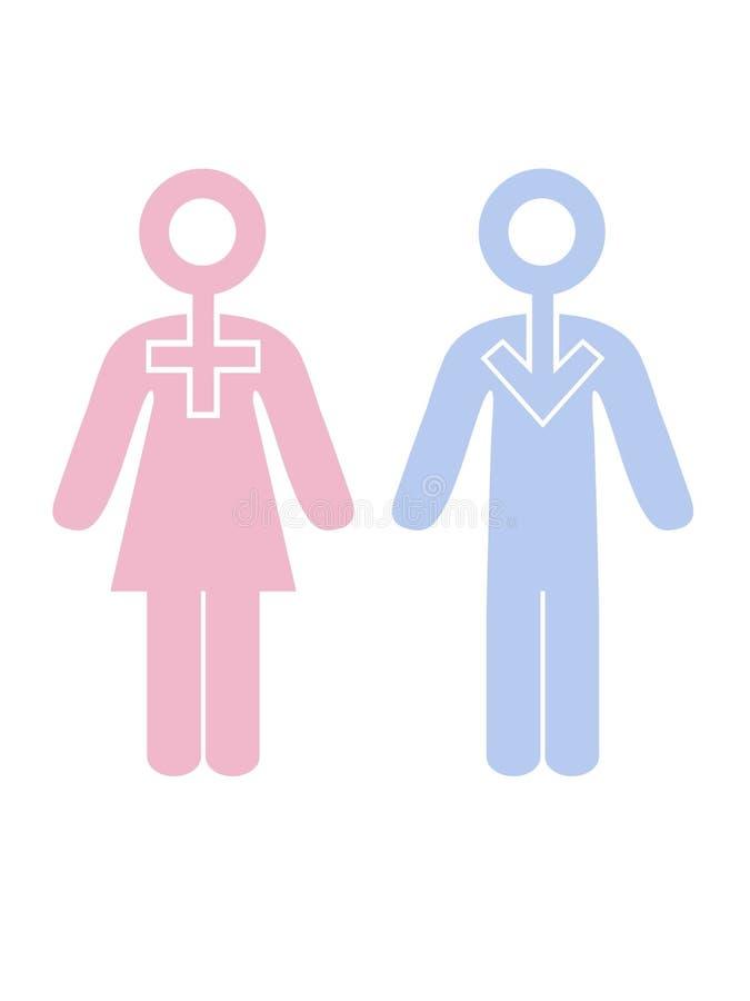 Geschlecht stock abbildung