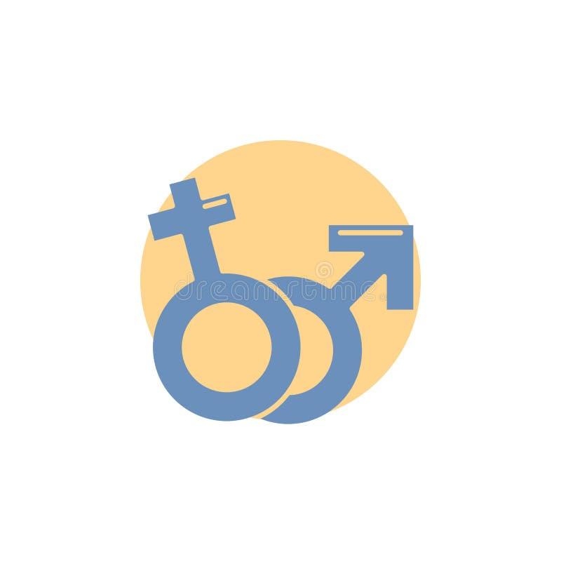 Geschlecht, Venus, Mars, männliche, weibliche Glyph-Ikone lizenzfreie abbildung
