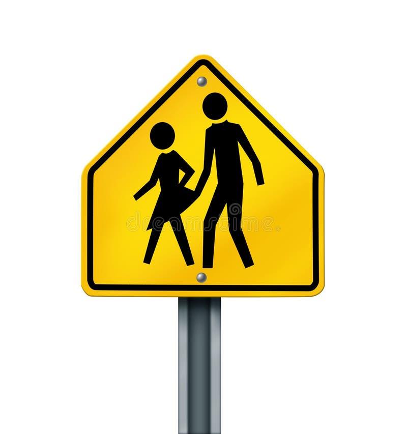 Geschlechts-Missbrauch in den Schulen lizenzfreie abbildung