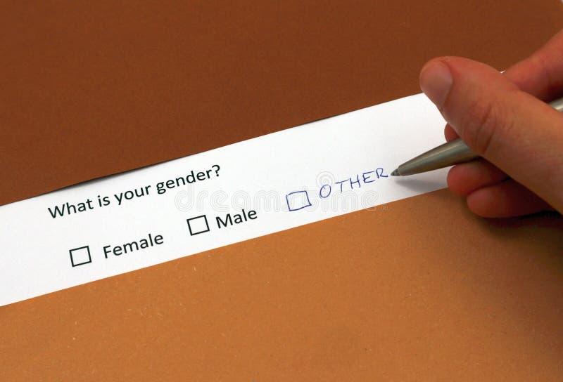 Geschlechtsidentitäts-Begriffsfoto Mann oder weibliches Geschlecht ist nicht genug, andere Geschlechtsidentität, die durch mensch stockfotografie