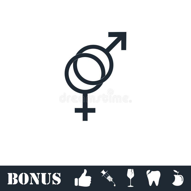 Geschlechtsikonenebene lizenzfreie abbildung