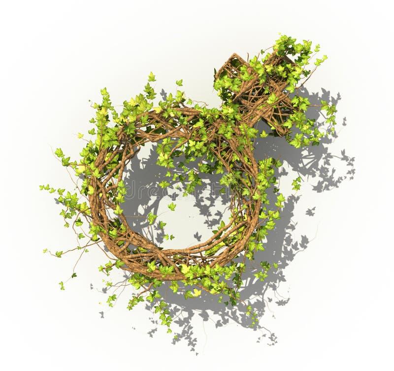 Geschlechtskonzept Die Grünpflanze in der Form des Venuszeichens vektor abbildung