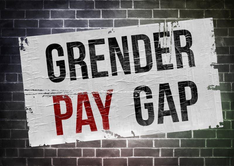 Geschlechtsspezifisches Lohngefälle lizenzfreie abbildung