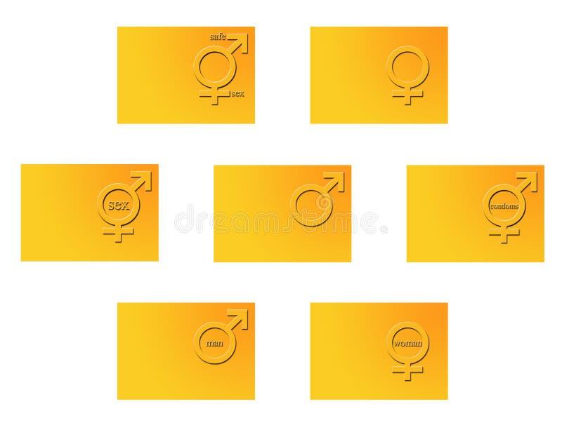 Geschlechtssymbole lizenzfreie abbildung