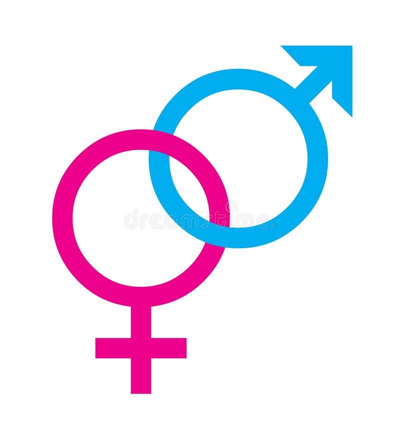 Geschlechtssymbolgleichheit lizenzfreie abbildung
