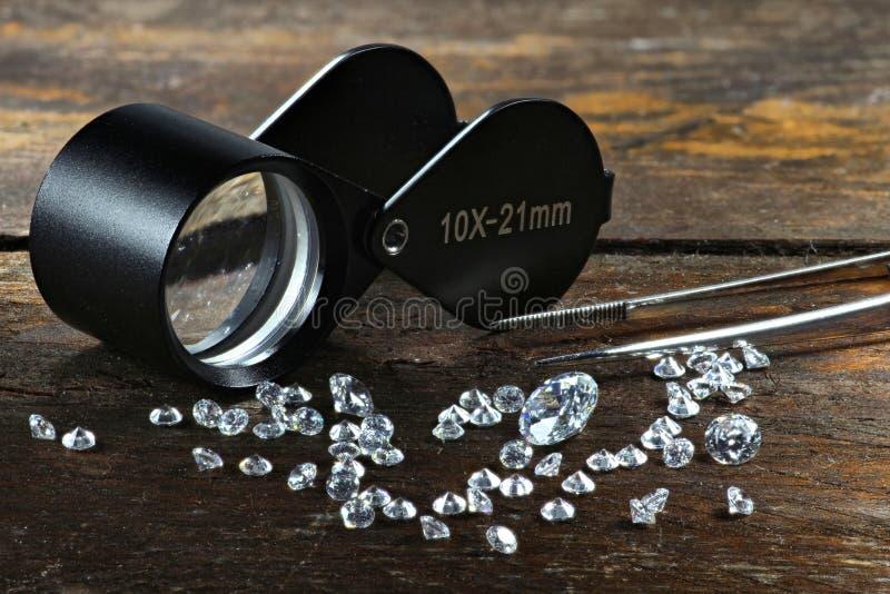 Geschliffene Diamanten 01 stockfotos