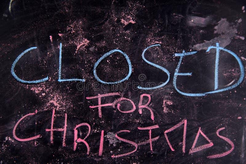 Geschlossen für Weihnachten lizenzfreies stockfoto