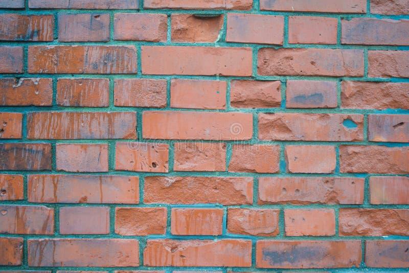 Geschlossen herauf Backsteinmauermuster lizenzfreies stockbild