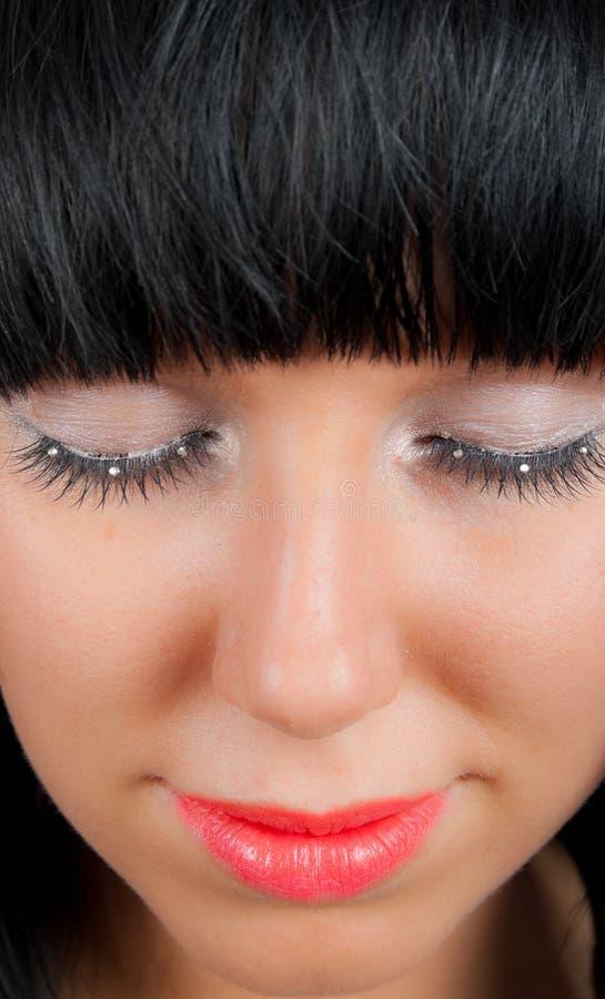 Geschlossene Augen stockfotografie