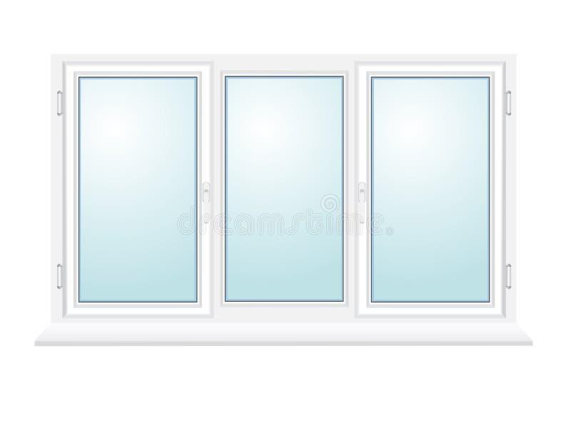 Geschlossene Plastikglasfensterabbildung stock abbildung