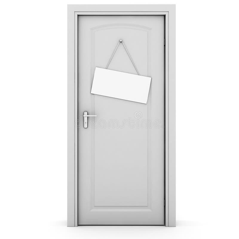Geschlossene tür  Geschlossene Tür 3d, Auf Weiß Lizenzfreie Stockfotos - Bild: 18649598