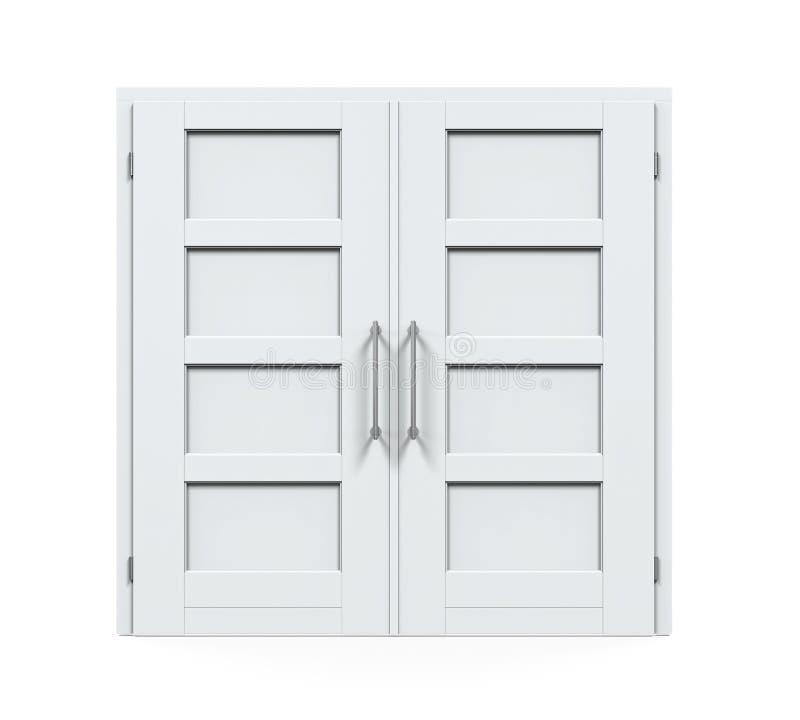 Geschlossene Türen lokalisiert lizenzfreie abbildung