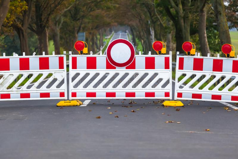 Geschlossene verbotene Straße lizenzfreie stockfotografie