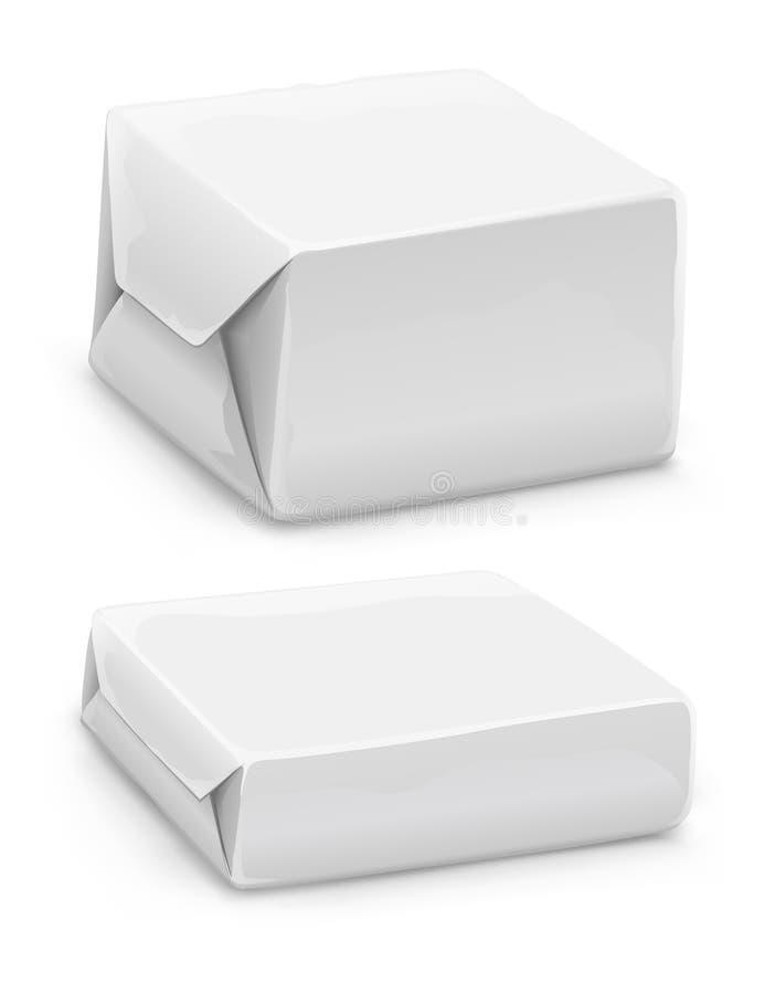 Geschlossene Weißbuchkästen stock abbildung