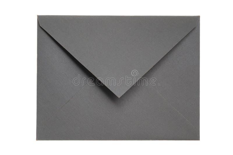 Geschlossener grauer Umschlag stockfotografie