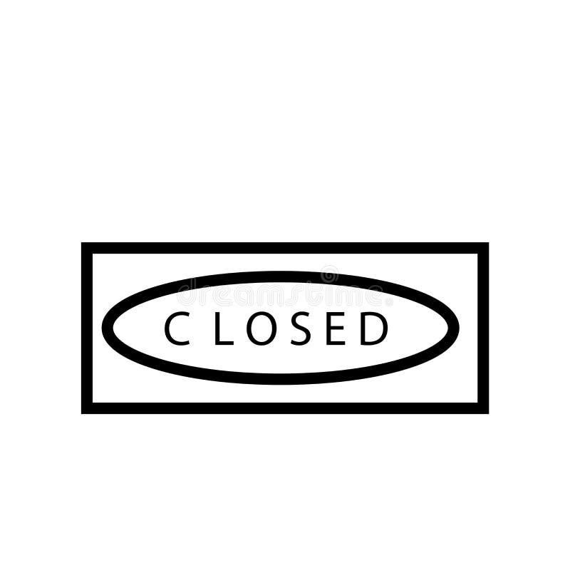 Geschlossener Ikonenvektor lokalisiert auf weißem Hintergrund, geschlossenem Zeichen, Linie oder linearem Zeichen, Elemententwurf lizenzfreie abbildung