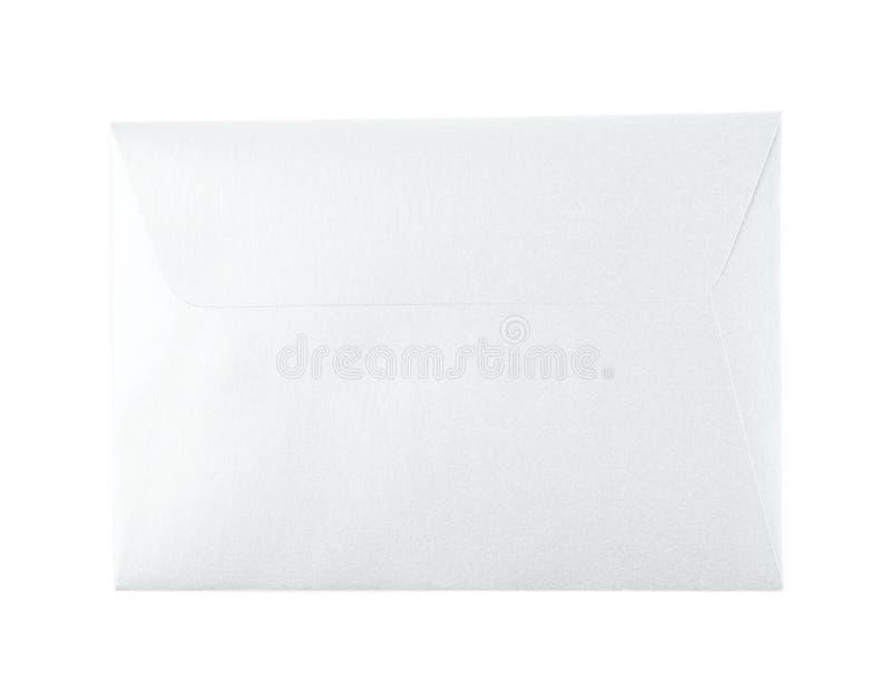 Geschlossener Papierumschlag lokalisiert stockbilder