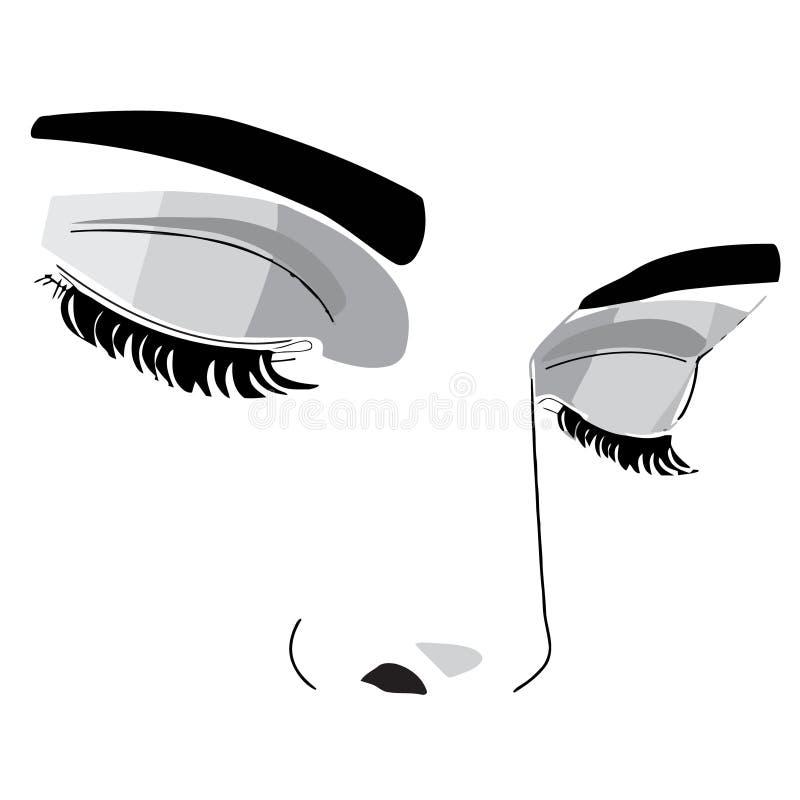 Geschlossenes Auge stock abbildung