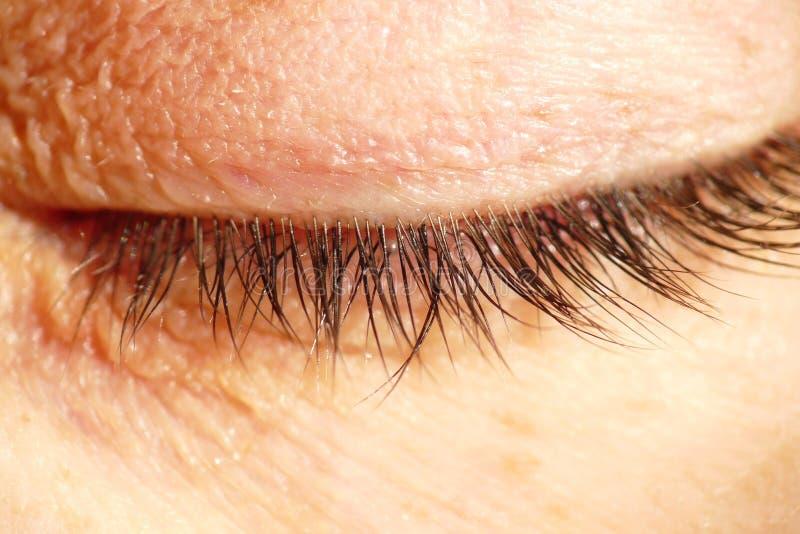 Geschlossenes Auge Stockfotos