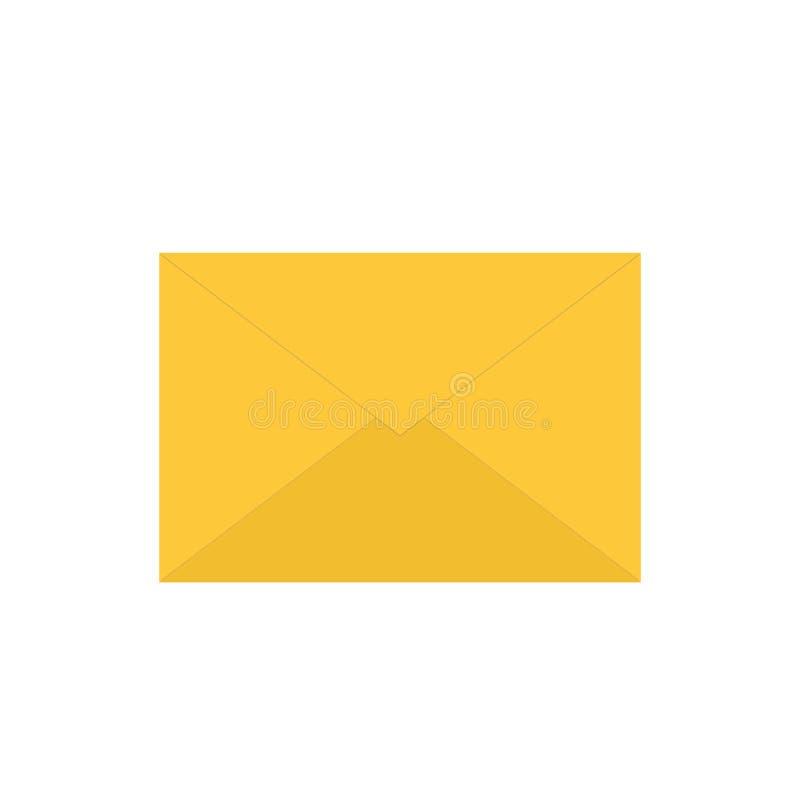 Geschlossenes E-Mail-Symbol mit einer Mitteilung Vektorillustration der Postikone lokalisiert auf weißem Hintergrund lizenzfreie abbildung
