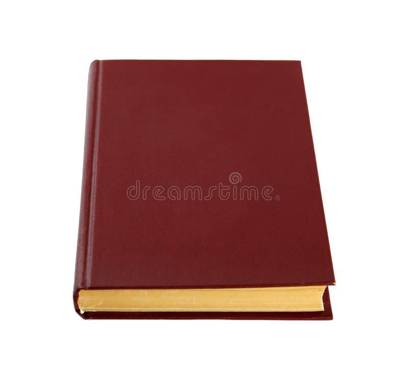Geschlossenes farbiges Hardcover-Buch isoliert stockbild
