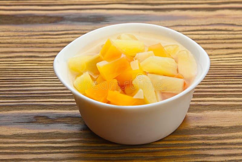Geschmackvoll reife appetitanregende Mango auf dem Tisch lizenzfreie stockfotos