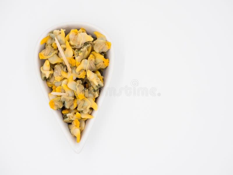 Geschmackvolle eingemachte Herzmuscheln stockbilder