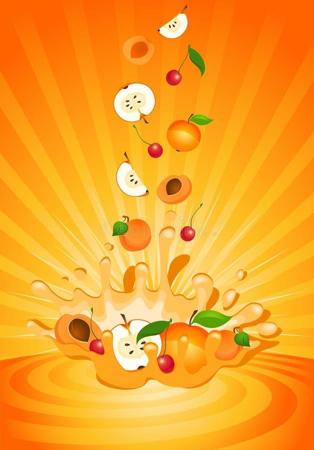 Geschmackvolle Frucht im Joghurt lizenzfreie abbildung