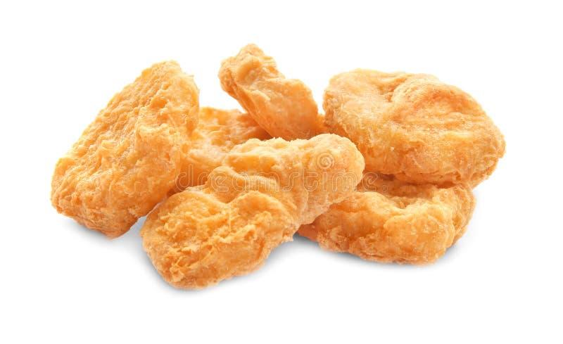 Geschmackvolle Hühnernuggets lizenzfreie stockfotos