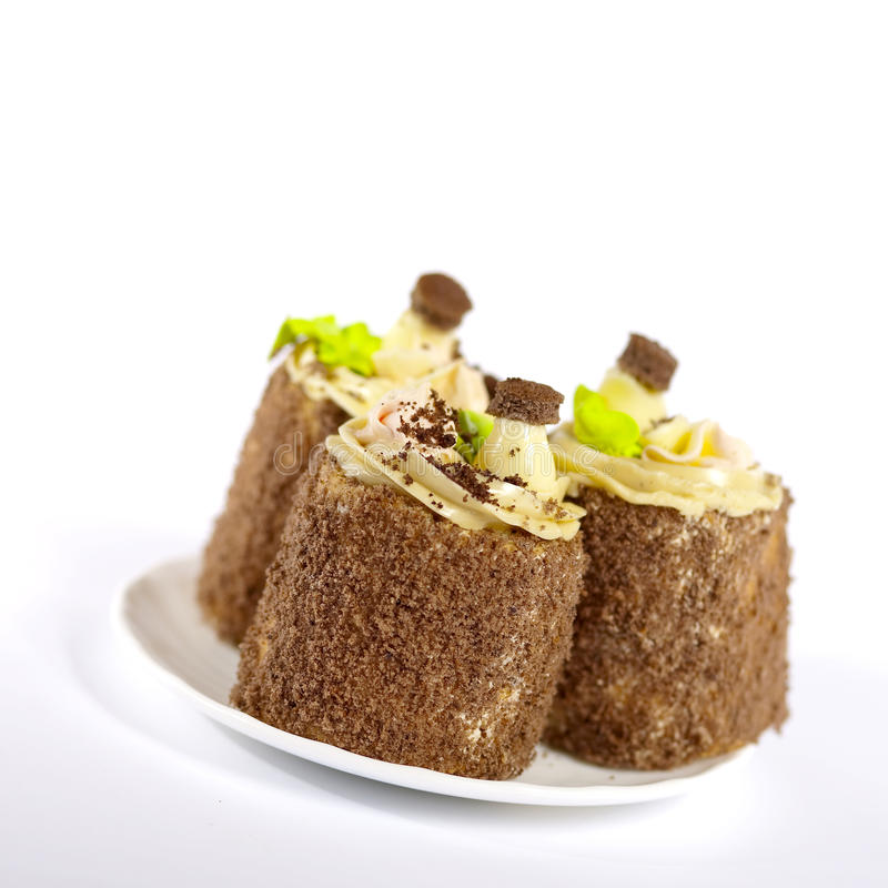 Geschmackvolle Kuchen stockfotos