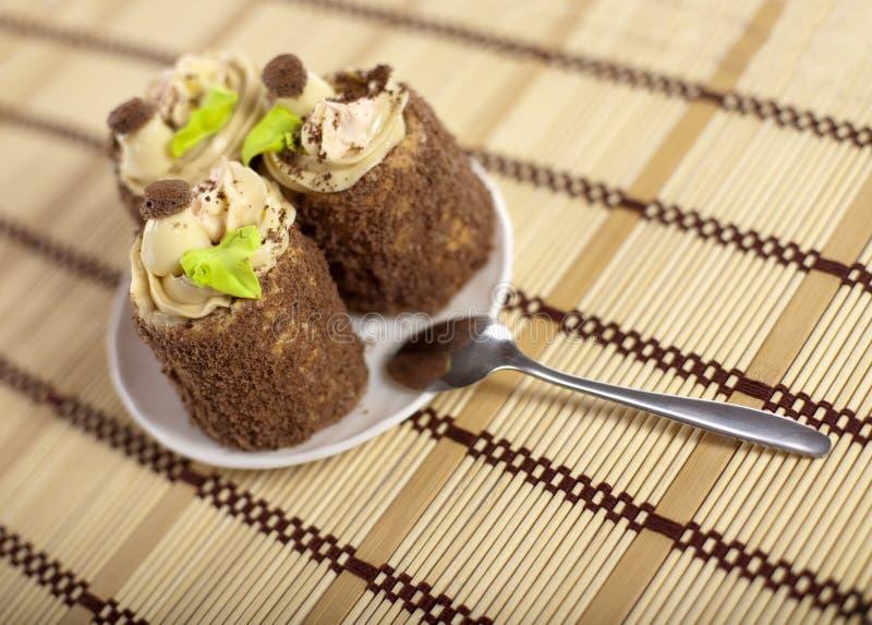 Geschmackvolle Kuchen stockbilder