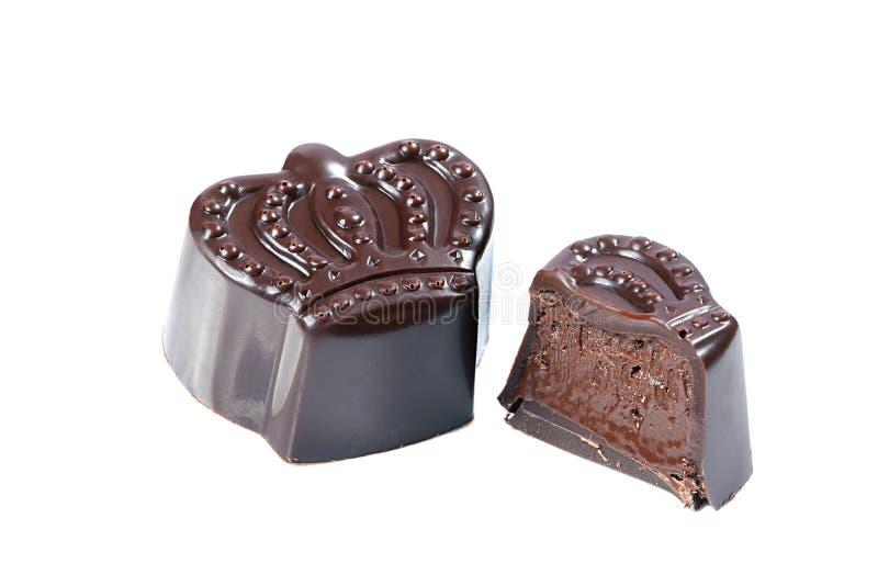 Geschmackvolle Praline In Der Form Der Krone Stockbild - Bild von ...