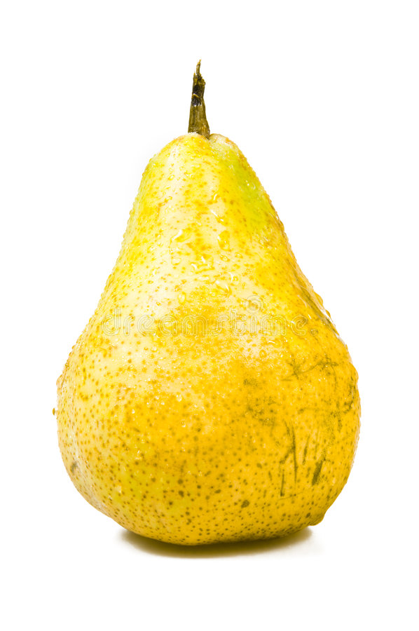 Geschmackvolle reife gelbe Birne lizenzfreie stockfotos