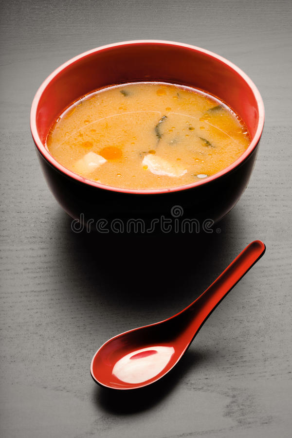 Geschmackvolle Suppe. stockbild